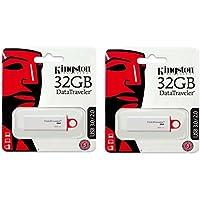 Kingston 32GB DataTraveler G4 DTIG4 USB 3.0 Flash Drive wholesale lot of 2