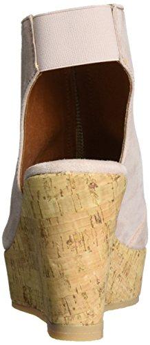Sandalo Sandalo Sandalo Zeppa Plateau Beige (pelle Scamosciata Nuda)