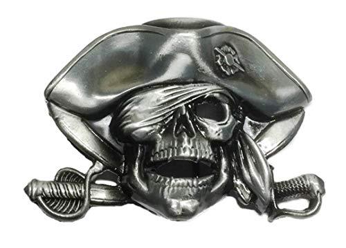 Pirates of Caribbean Skull and Crossed Swords Logo Metal BELT BUCKLE