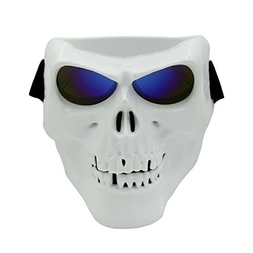Vhccirt White Reaper Skull Mask Goggle PC Lens Airsoft Safety/Motorcycle/Riding/Skiing Protective Mask Halloween Shield