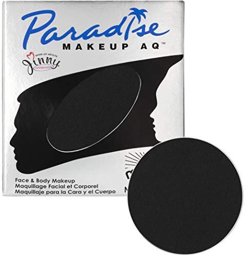 Mehron Makeup Paradise Makeup AQ Refill (.25 oz) (BLACK) -