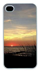 Grassy Sunset PC Case Cover for iPhone 4 and iPhone 4s White