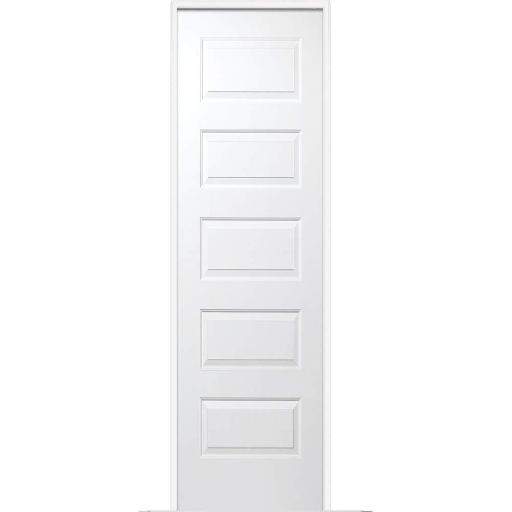 MDF Prehung Interior Single Door 5-Panel Molded National Door Company ZZ365022R Solid Core Right Hand 18 x 80 on 6-9//16 Jamb