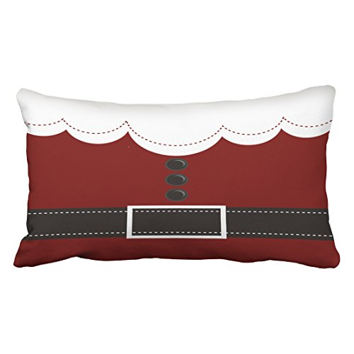 Shorping Zippered Pillow Covers Pillowcases 20X36 Inch Santa Claus Suit Christmas Holiday Decorative Throw Pillow Cover,Pillow Cases Cushion Cover for Home Sofa Bedding Bed Car Seats Decor