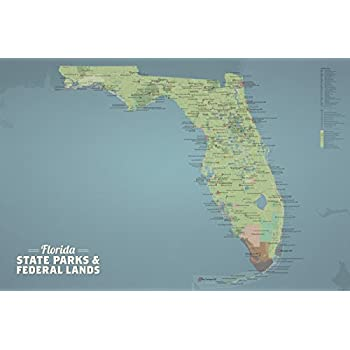 Amazon Com Best Maps Ever Florida State Parks Federal Lands Map