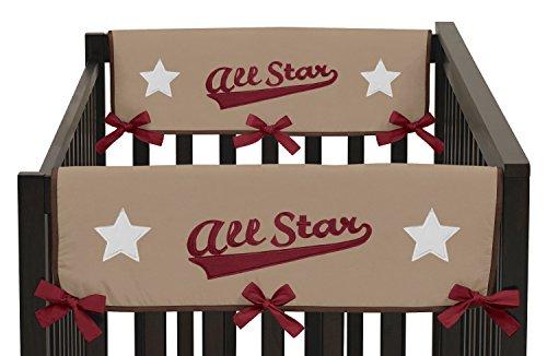 (Sweet Jojo Designs 2-Piece All Star Sports Teething Protector Cover Wrap Baby Boy Crib Side Rail Guards)