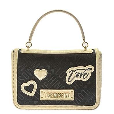 b69fecd29e Love Moschino , Sac bandoulière pour femme Nero+avorio Medium ...