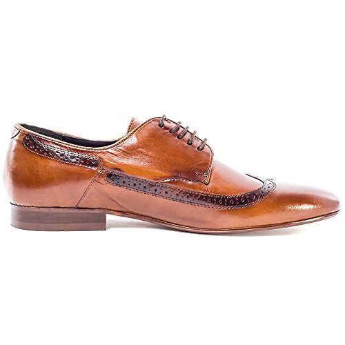 H by Hudson Olave Mens Leather Brogues Tan - 42 EU