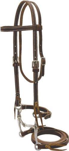 Billy Cook Saddlery Pony Bridle W/ Tom Thumb Bit - Burgundy Latigo - Pony