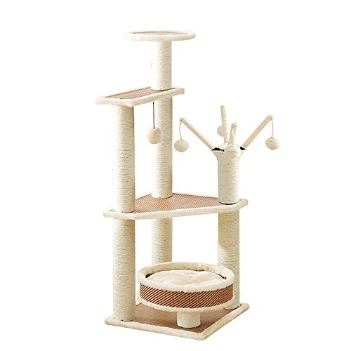- DjfLight Cat Scratching Post Tower Tree Pet Palace,Multi Level Cat Climbing Frame for Pets to Play,Cats Scratch, Climb, Jump and Even Sleep Or Rest Entertainment Pet Activity Centre Bed Toys