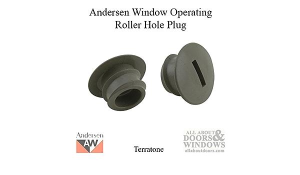 2 pk Anderson Sliding Patio Door Roller Wheels Adjustment Hole Plug White
