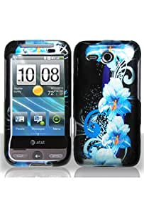 HTC Freestyle Graphic Case - Blue Flower (Free HandHelditems Sketch Universal Stylus Pen)