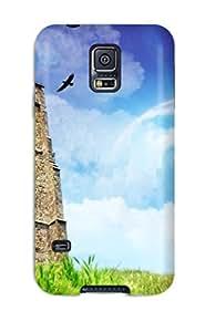 Premium PwJZclS6701iXDOj Case With Scratch-resistant/ Castle Dreamy World Case Cover For Galaxy S5