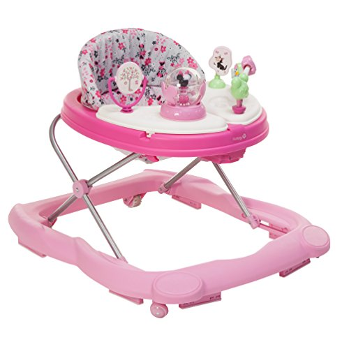 Disney Baby Minnie Mouse Music and Lights Baby Walker with Activity Tray (Garden Delight) (Best Baby Walker For 1 Year Old)