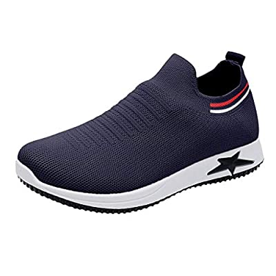 RAINED-Womens Sneakers Casual Walking Athletic Shoes Lightweight Slip On Sneakers Breathable Mesh Shoes