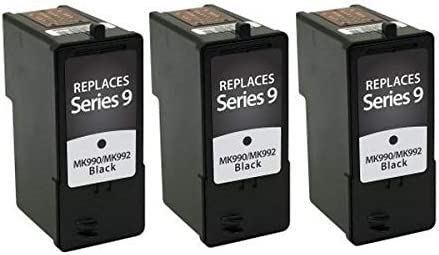 SuppliesMAX Compatible Replacement for Dell 926//V305//V305W Black Inkjet Series 9 310-8388/_3PK 3//PK