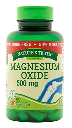 Natures Truth Magnesium Oxide 500 mg Capsules, 90 Count