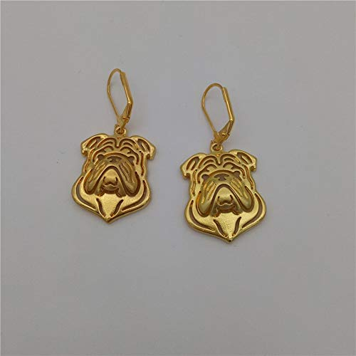English Bulldog Earings | Fashionable Jewelry | Gold, Silver Color Butler University Bulldogs Earrings | for Women