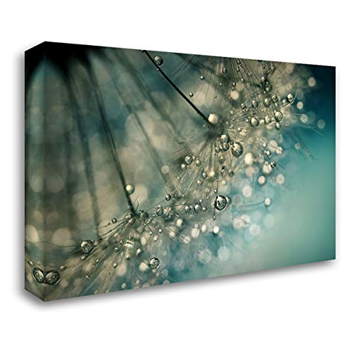 Indigo Sparkles 60x40 Extra Large Gallery Wrapped Stretched Canvas Art by Johnstone, Sharon