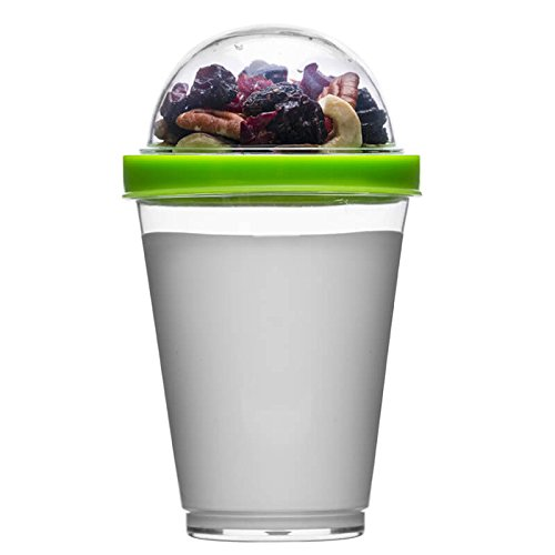 Sagaform Polysthyrene Plastic Yoghurt Cup with Storage, Green by (Sagaform Green)