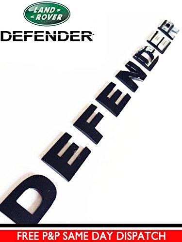 carbon motorsport Defender Gloss Black Bonnet Lettering Letters Badge Emblem Land Rover