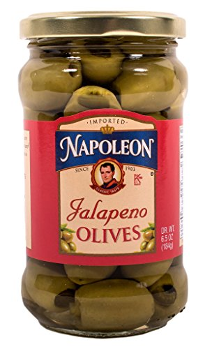 Napoleon Stuffed Olives, Jalapeno, 6.5 Ounce