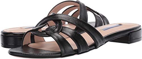 Stuart Weitzman Women's Cami Slide Sandals, Black, 9.5 M - Stuart Open Toe Heels Weitzman