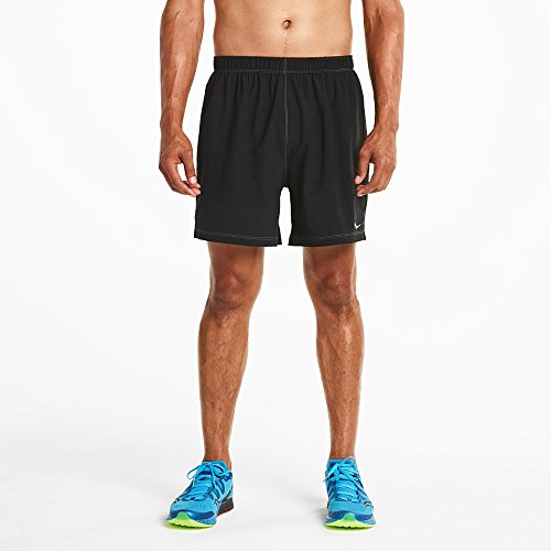 Saucony Men's Alpha Shorts, Large, Black/Black