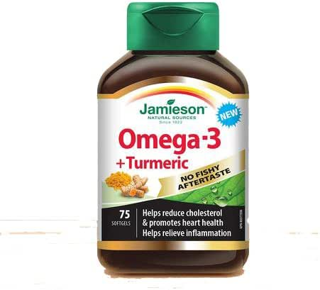 Jamieson Omega-3 + Turmeric, 75 softgels