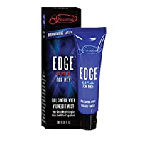 Edge Delay Gel. Ultimate Staying Power: Natural, Prolonging and Desensitizing Delay for Men. NO Lidocaine, Non-Numbing Long Lasting! Pocket Size Tube! (30 Applications)