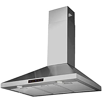 stainless steel wall mount range hood 30 inch ductless ge profile 36 kitchen bath collection mounted touch