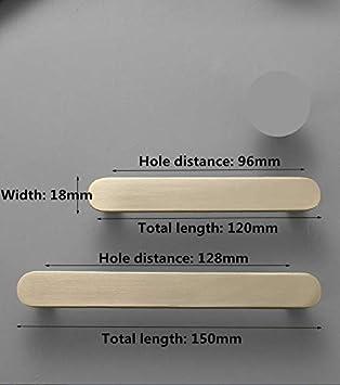 color dorado 6 tiradores de puerta de caj/ón lat/ón cepillado