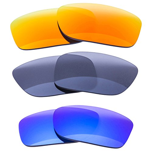 LenzFlip Replacement Lenses for Oakley HOLBROOK - 3 pc Patriotic - Prizm Lenses Holbrook Oakley