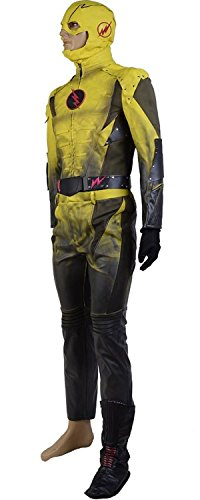 Reverse Flash Cosplay Costume Suit Cosplay Jumpsuit (Large) by caleshop (Image #1)