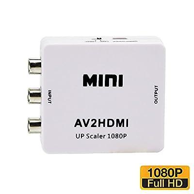 NAMEO AV To HDMI, Mini Composite AV CVBS 3RCA to HDMI Video Converter Adapter 720p 1080p Upscaler