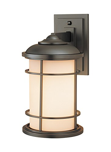 Feiss OL2201BB, Lighthouse, 1 Light Wall Lantern, Burnished Bronze Bronze Lighthouse Lantern