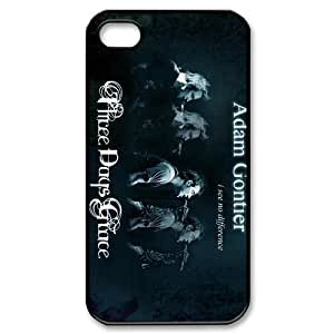 CTSLR Band Three Days Grace Protective Hard Case Cover Skin for Apple iPhone 4/4s- 1 Pack - Black/White - 3