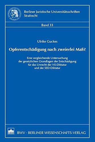 Download Opferentschädigung nach zweierlei Maß? PDF