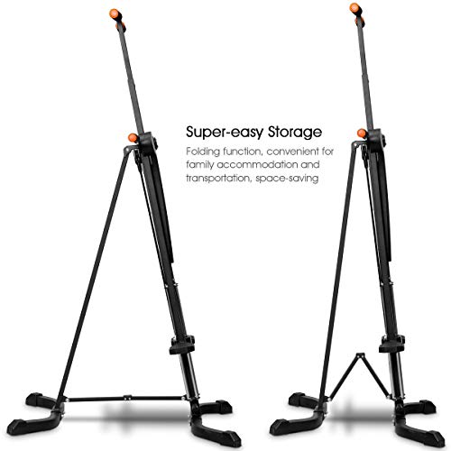 Goplus Vertical Climber Folding Stepper Climbing Exercise Machine w/Adjustable Height LCD Display Cardio Climbing System Home Gym (5 Adjustable Height) by Goplus (Image #4)