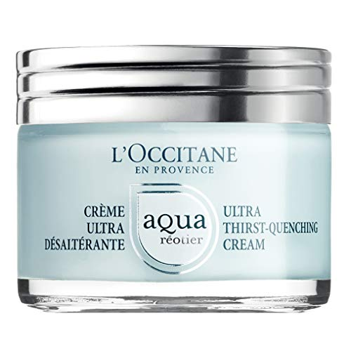 L'Occitane Moisturizing Water-Based Aqua Reotier Ultra Thirst-Quenching Cream Enriched with Hyaluronic Acid, Net Wt. 1.7 - Cream Aqua