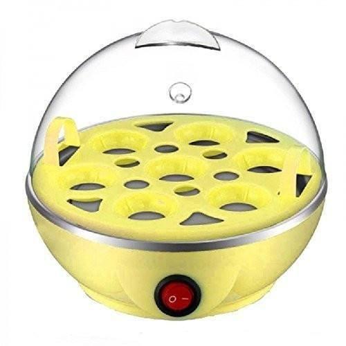 IN-INDIA Electric Egg -Boiler/Poacher cum Food Steamer- Stylish Egg Boiler Cooker ( Boils Potatoes, Eggs and Many More) (EU PLUG)
