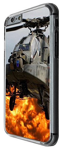 931 - Cool army helicopter navy sas flight fighter Apache aircraft explosion Design For iphone 6 6S 4.7'' Fashion Trend CASE Back COVER Plastic&Thin Metal -Clear