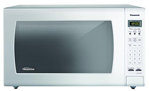 Panasonic NN-SN933W White 1250W 2.2 Cu. Ft. Countertop Microwave Oven with Inverter -