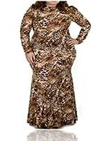 BBC Plus Size Long Mermaid Dress