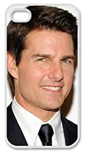 Iphone 4,4S Tom Cruise on Personalized Phone Back Case with Hard Shell Protection