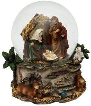 Preciosa Poly bola de nieve, Sagrada Familia, Ø 6,5 cm, mit Krippe: Amazon.es: Hogar