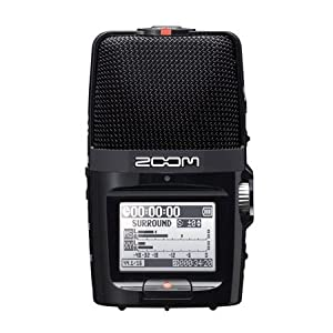 Zoom H2n Stereo/Surround-Sound Portable Recorder, 5 Built-In Microphones, X/Y, Mid-Side, Surround Sound, Ambisonics Mode…