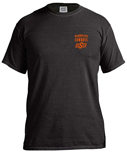 NCAA Oklahoma State Cowboys Adult Unisex NCAA Limited Edition Comfort Color Short sleeve T-Shirt,Large,Black