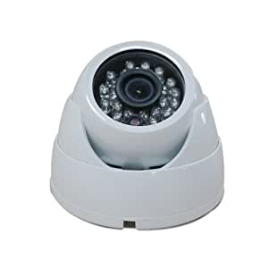 Oroview Vandal Proof 700TVL Day Night Dome Camera CCTV with Infrared IR Night Vision, 3.6mm Wide View Angle Lens - White