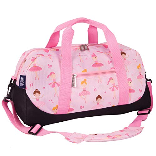 Duffel Bag, Features Moisture-Resistant Lining and Padded Shoulder Strap, Perfect for Sleepovers, Sports Practice, and Travel, Olive Kids Design - Ballerina ()
